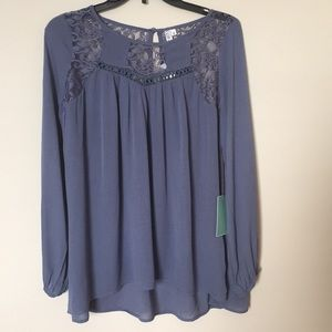 Tops - Lace Detail Babydoll Top Size Small